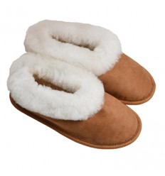 Slippers Vegetable Tanning in Sheepskin - Made in France