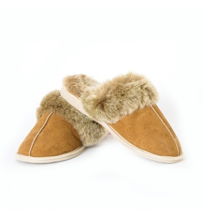 Slippers Mules in Sheepskin - Made in France