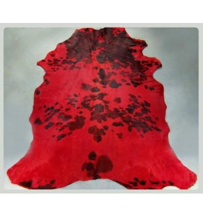 Peau de vache normande teintée rouge