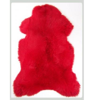 Peau de mouton 1er Choix décorative rouge 100x80cm
