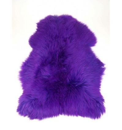 Peau de mouton 1er Choix décorative violette 100x80cm
