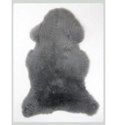 Peau de mouton 1er Choix décorative grise 100x80cm