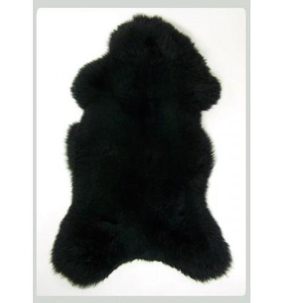 Peau de mouton 1er Choix décorative noir 100x80cm