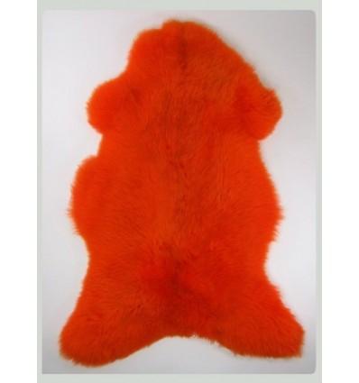 Peau de mouton décorative rouge