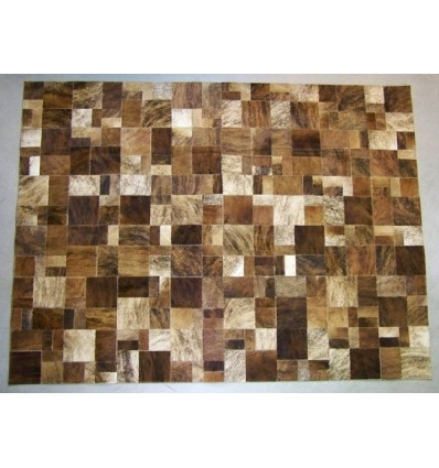 Peau de décoration patchwork marron 150x200cm
