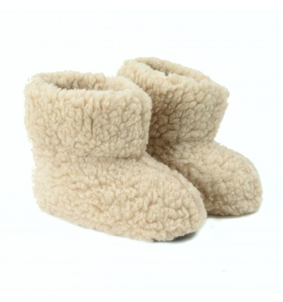 Slippers Babou in Sheepwool - Made in France