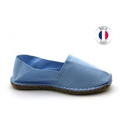 Espadrilles Basque MADE IN FRANCE Pervenche