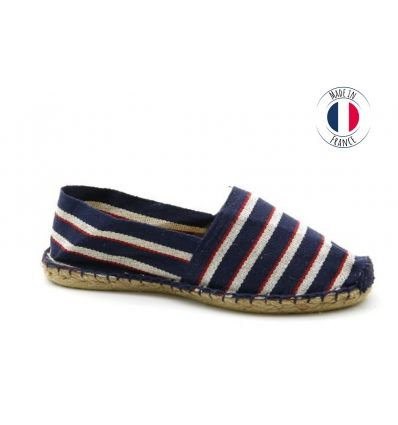 Espadrilles Basque MADE IN FRANCE Bleu Blanc Rouge