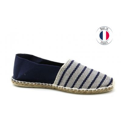 Espadrilles Basque MADE IN FRANCE Bicolore Rayé