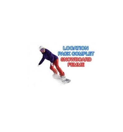 Location Femme Snowboard Chaussures