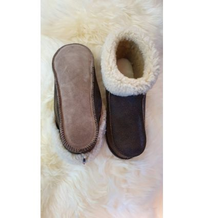 Slippers Chalet in Sheepskin - Made in France