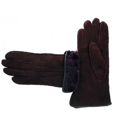 Gants Sellier Mouton Femme Wine