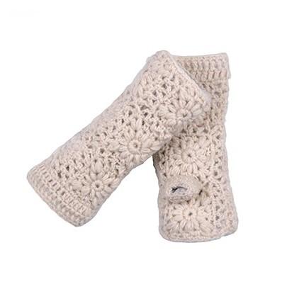 001A Mitaines en laine doublées polaire
