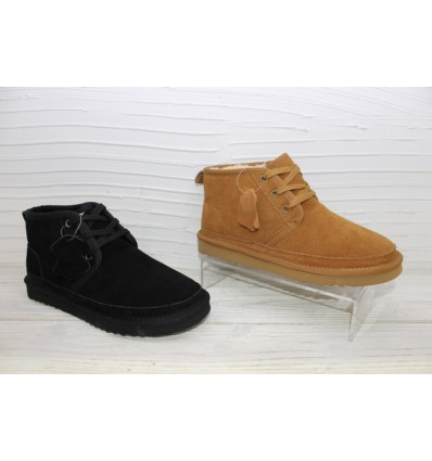 Chaussures en cuir fourrées