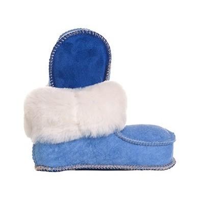 001 Chausson Mouton Bleu Enfant