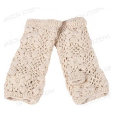 002A Mitaines en laine doublées Polaire