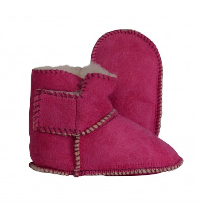 Child Slippers Boots in Sheepskin - Made in France
