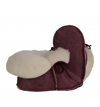 Child Slippers Laces in Sheepskin - Made in France