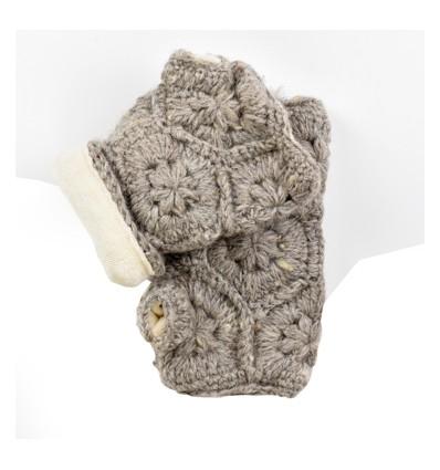 Mitaine laine doublées velours de coton jp
