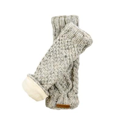 Mitaine longue laine doublées velours de coton jp