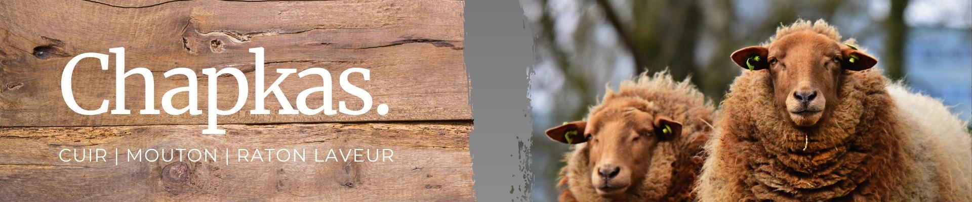 Sheepskin trapper hats
